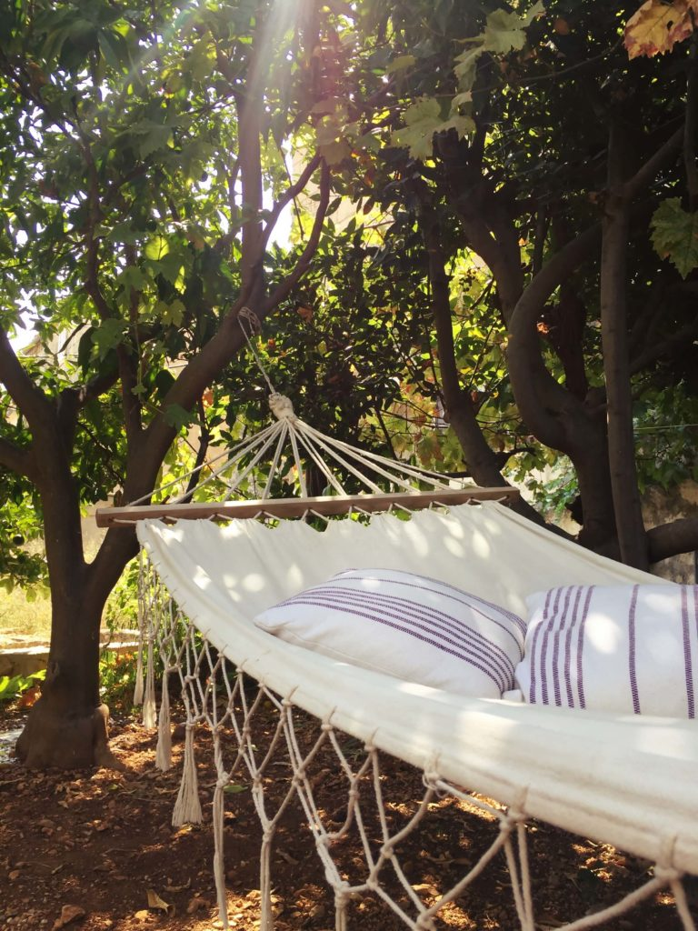accommodation lula komiza garden hammock